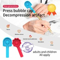 Rainbow Party Push Foam Fidgety Desktop Onderwijs Speelgoed Drukpen Cap Knijp Muziek Kinderen Studenten Geschenken