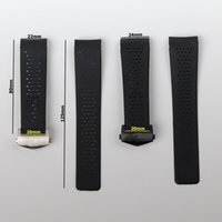 22mm 24mm Silicone Black Submersible Men Watchband For TAG HEUER strap Perforated Watch Band Sport Bracelet belt Accessories