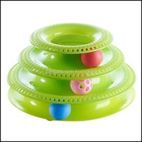 Home Gardenpets Interactive Cats Ball Disk Toys Toys Trint Turntable Pet Intelluctual Track Tower Cat Toy Toy Plate Смешные расходные материалы Delive