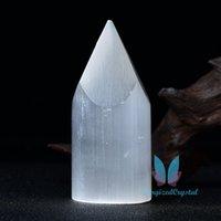 Marocco Selenite Torre di taglio per la guarigione di cristallo iceberg in pietra di ricarica