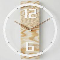 Wall Clocks Wooden Clock Living Room Handmade Nordic Minimalist Creative Unique Kitchen Watch Reloj Pared Home Decoration EA50ZB