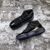Lanzamiento del tapa y la bata 11 PROM NIGHT Blackout 11s zapatos de baloncesto hombres auténticos zapatillas deportivas de fibra de carbono real con caja 378037-005