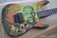The Karloff Music Guitar Electric Guitar مع Floyd Rose، مقياس روزوود، الأجهزة السوداء، إنتاج الدقة، جودة عالية، خدمة مخصصة