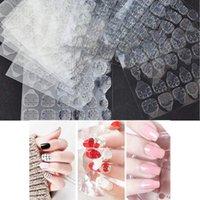 KROFAUE 240 UNIDS Pegatina de pegamento de pegamento de la cinta adhesiva del arte del clavo falso de las 240 unids 240 unids