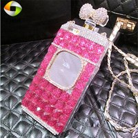 New Perfume Bottle Square Mirror Phone Case DIY IPhone 12 Pro 11 Pro Max XR X XS Max 7 8 Plus Leather Protective Back Cover