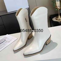 fashion Women Western Cowskin Boot Winter Middle Tube Knight Lady Rome zipper 5.5cm Medium thick heel Leather Shoes Wide Mid-Calf Cowboy