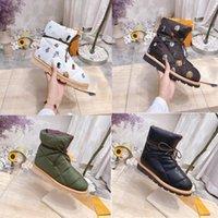 Роскошные дизайнерские сапоги для кемпинга мода короткие сапоги женские зимние снежные ботинки плоские дна женские ботинки лук оригинальная коробка 35-41