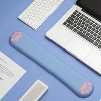 Mouse Pads & Wrist Rests Cute Cat Memory Foam Rest Keyboard Pad With Support Durable Computer Cushion