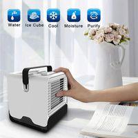 Newmini ar refrigerador de ar desktop portátil USB ar condicionado de ar negativo íon purificador de umidificador com luz noite EWF7935