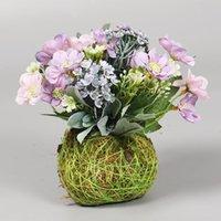 Fleurs décoratives couronnes végétation artificielle bonsaï faux fleur rose zinnia domestique maison décoration table arrangement