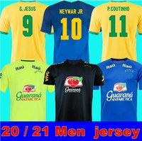 2021 Top Quality Brazils Soccer Jersey Camiseta de Futbol Paqueta Neres Coutinho Camicia da calcio Firmino Gesù Marcelo Maillot Brasil + Kid Kit