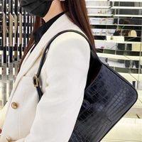 Fashion Y letter metal hook lock hobo bag brand designer Crossbody luxury crocodile leather lady wallet underarm bags adjustable strap