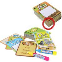 المرجعية 26PCS الرضع الحروف الهجائية أرقام اللوحة مجلس القلم بطاقة الرسم 3 سنوات 10 سنتيمتر / 3.9 بوصة ألعاب تعليمية