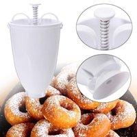 Pişirme Kalıpları Donut Kalıp Kolay Hızlı Taşınabilir Makinesi Manuel Waffle Dağıtıcı Çörek Makinesi Plastik Hafif Derin Fry # T2P
