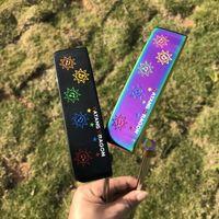 2021 Ny Golf Putter Datang Dragon Sunflower Putter 303 Stålmaterial Smidd putter med lädergreppar huvudbräda golfklubbar