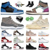 Jordan's Basketball Shoes Air Jordan Jorden 1 4 Retro Jumpman 11 Sail Off White Jordan1s Travis Scott Jordan4s Wild Things High University Blue Marina Dark Mocha Mid Carbon Fiber
