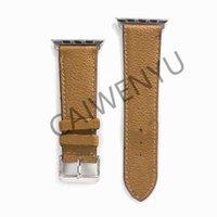 أزياء مصمم حزام جلد ل أبل ووتش الفرقة سلسلة 6 5 4 3 2 40 ملليمتر 44 ملليمتر 38 ملليمتر 42 ملليمتر سوار إيوز حزام B04 - # 1-9
