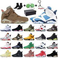 Nike Air Jordan 6 6s Retro Travis Scott 6 2020 Teknik Krom Hare ile Kutusu Jumpman Erkek Basketbol Ayakkabı Siyah Kızılötesi DMP Erkekler Eğitmenler Sneakers