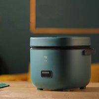 1.2L mini fogão de arroz elétrico 2 camadas de aquecimento de aquecimento Multifunction refeição cozinhar potenciômetro 1-2 pessoas almoço almoço plug