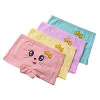 Panties 4pcs Children Cotton Boxers Girl Cartoon Brief Modal Underwear Cute Patterns Printing Kids Soft Underpants