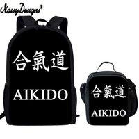حقيبة الظهر كونغفو مخصصة الرجال مجموعة القتال 3d طباعة طالب حقيبة مدرسية المراهقين الأولاد فتاة أكياس الغداء الأطفال الكتف