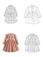 Kızlar Elbiseler Tasarımcı B Yeni Uzun Kollu Pamuk Ince Ekose Prenses Parti Elbise 9 Renkler Çocuk Giyim Noel Hediyeleri Çocuk Butik Giyim