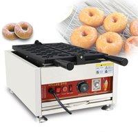 110 V 220 V Elektrikli Çörek Delik Makinesi Ticari Otomatik Mini Çörek Makinesi Baker Izgara Demir Yapımı Pan
