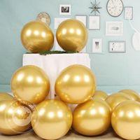 Party Decoration 20-30pcs lot Chrome Metallic Balloons Birthday Gold Helium Balloon Golden Latex Wedding Ball
