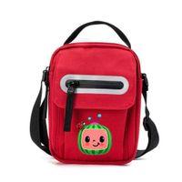 NEW!!! Cocomelon Bags Pack Cartoon Satchel Crossbody Shoulder Bags with Plush Avocado Doll Pendant Key Holder Travel Sport Knapsack DHL