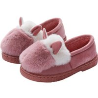 Sheep Ears, Fur, Autumn And Winter Bags, Heels, Indoor And Outdoor Home Ladies, Warm Cotton Shoes, Snow Cotton Slippers
