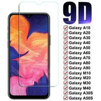 9D Full Tempered Glass On For Samsung Galaxy A10 A20 A30 A40 A50 A60 A70 Screen Protector A80 A90 M10 M20 M30 M40 Glas Film Case