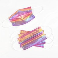 Laser Fluorescence sequin Luxry Fashion Disposable Mask Adult Men Women Prevention of Influenza Filtration Efficiency Dustproof Face Mouth Masks New