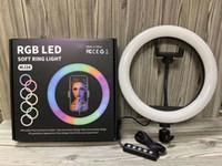 13 дюймов RGB LED SELLE SELLE LIGHT LIGHT С телефоном 8 дюймов 10 дюймов RGB кольцевой лампы USB Ringlight для YouTube Tiktok видеофотофонская студия