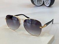 Солнцезащитные очки высшего класса против UV100 УФ-овальная рама Мужской и женской зеленой змеи Золотая рамка Коричневые солнцезащитные очки RC 1091 с очками