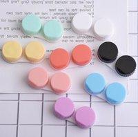 Plastique Contact Lens Case Colorful Travel Stockage Container Contact Lens Boîte Case Dual Box L + R Cas d'objectif