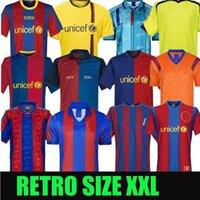 Barcelona Retro Camisolas de futebol 05 06 07 08 09 10 11 12 13 15 16 19 20 91 92 96 97 98 99 Messi Ronaldinho Ronaldo 100th Jersey Football SD