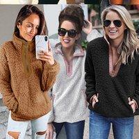 Retrieved Winter Fleece Warm Women Rits Coltrui Long Mouw Sweatshirts 2020 Fashion Black Pluck Hoodie Trunks Outer Jacket
