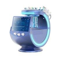 Microdermabrasion de haute qualité Ice Blue Ultrasonic RF Aqua Scrubber Anti-Rides Hydrhaoxygène Dermabrase Facial avec analyseur de peau Machine de nettoyage