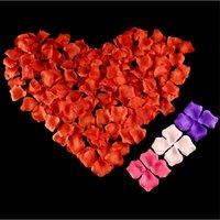 100 pçs / lote 5 * 5 cm Flores artificiais Simulação Rose Petals Decorações Casamento Casamento Sala De Casamento Flor