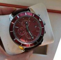 Homens Analógico Movimento de Quartzo Data Calendário All Dial Trabalho Couro Strap Orologio Uomo Luxo Montre de Luxe Designer Relógios