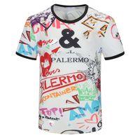 패션 망 디자이너 티셔츠 여름 티셔츠 고품질 망 스타일리스트 T 셔츠 힙합 남자 여성 검은 짧은 소매 티셔츠