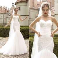 Sexy Sweetheart Open Back Court Train Bridal Gowns Custom Made Wedding Dresses Fabulous Simple Tulle Mermaid Trumpet Wedding Dres