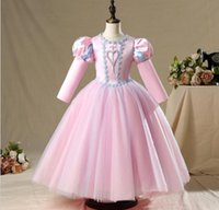 10 estilos Menina Princesa Vestidos Crianças Boutique Elegante Roupas Casamento Meninas Vestido Requintado Tamanho 90-17-CM Presente de Aniversário