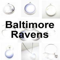 Football Team Baltimore Sport Charms Raven Dangle Dangle Charms Bracelet Bracelet Bracelet Collier Collier Bijoux Accessoire Amérique Charms