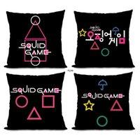 TV Squid Game Masked Man Pillow Case 20 Designs Square Circle Round Bossman Pillowcase Home Sofa Car Decor Cushion Pillows Covers LLD10908