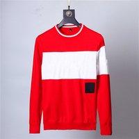 2021 Mens Momen Farbbrief Drucken Pullover Designer Paris Klassische Mode Gestriebene Pullover Casual Hohe Qualität Desig Sweathirthirts für Herbst Winter Männer M-3XL
