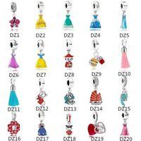 2021 AUTÉNTICO S925 STRINLING SLINLINE FITS PANDORA Pulsera Beads Dressl Charms para el collar de cadena de encanto de serpiente europea moda Joyería de bricolaje