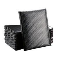 20 * 28 см Черные пузырьки амортизационные обертывающие почтовики Матовый конверт сумка упаковка для деловой подкладки Poly Mailer Seal Seal Bags
