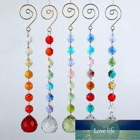 1pcs 22cm lustre Crystal Prism Ball Rondelle Perles de perles Strand Design Pendentif Rainbow Maker Suncatcher suspendu chakra