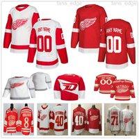 사용자 정의 2021 리버스 레트로 디트로이트 레드 윙 Gordie Howe Dylan Larkin Anthony Mantha Tyler Bertuzzi Vladislav Namestnikov Ice Hockey Jerseys